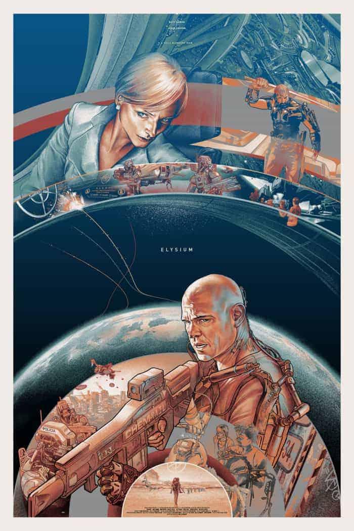 Elysium mondo poster variant