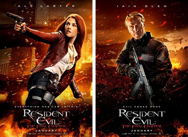 Resident Evil The Final Chapter Character Posters Highlight