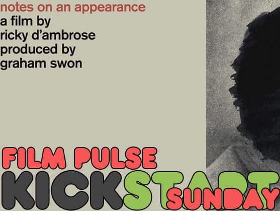 Kickstart Sunday: NOTES ON AN APPEARANCE 1