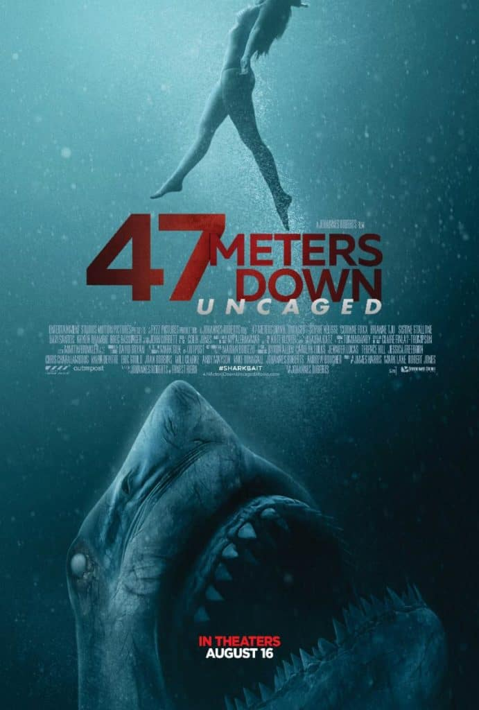 47 meters down uncaged trailer