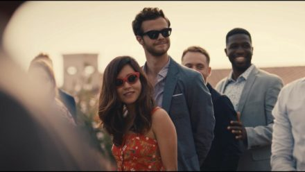 Alice Mori (Maya Erskine) & Ben King (Jack Quaid). DoP: Guy Godfree.