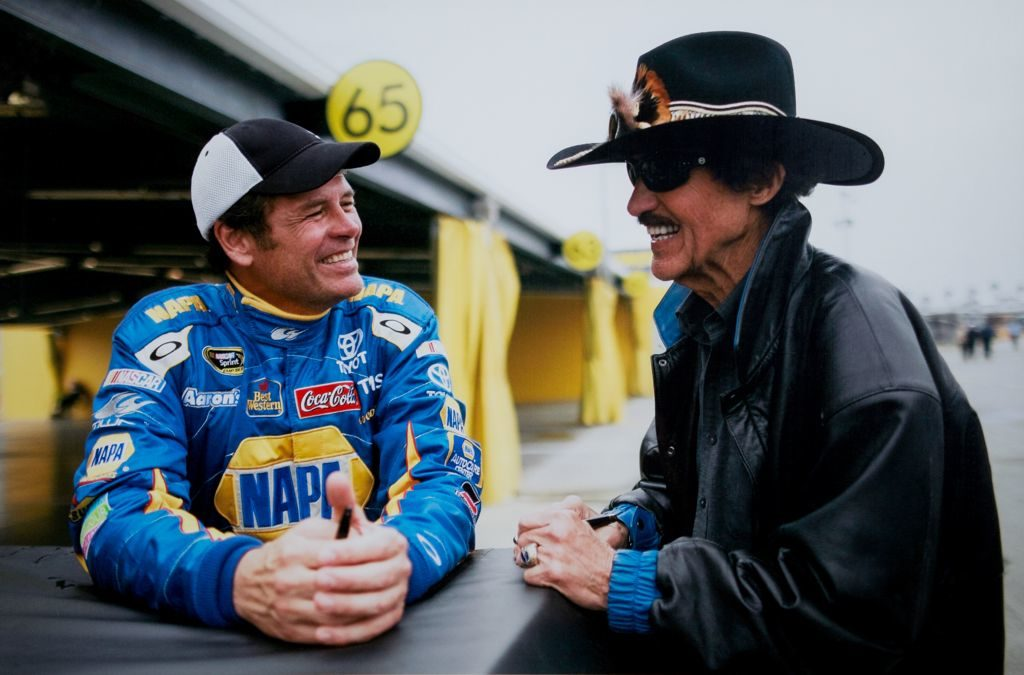 Michael Waltrip and Richard Petty chat_FROM MW PERSONAL COLLECTION