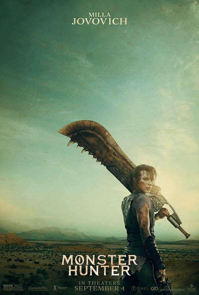 MONSTER HUNTER Posters Highlight Stars and Very Large Weapons 1