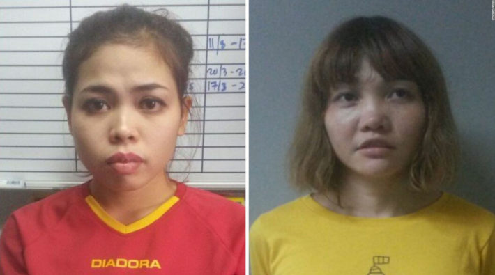 Assassins_ Mugshots of Siti Aisyah and Doan Thi Huong
